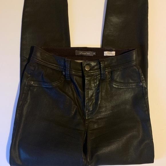 Level 99 Black Tanya High Rise Skinny Black Jeans
